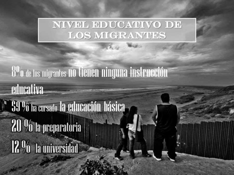 Bajo nivel educativo de los migrantes