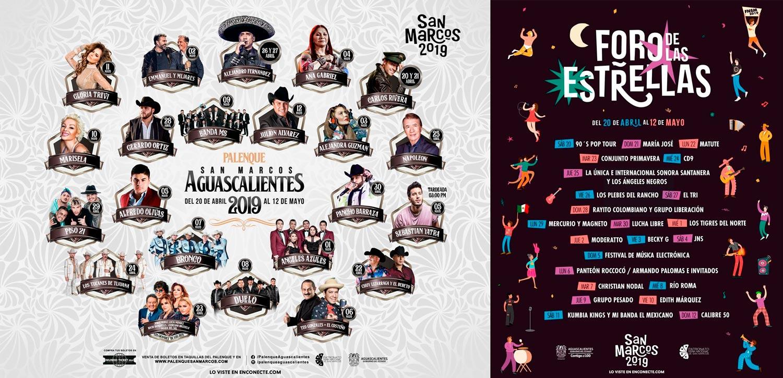 Programa Palenque y Foro de las Estrellas Feria Nacional de San Marcos 2019